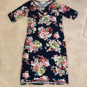Dresses & Skirts - Navy Flowered Dress